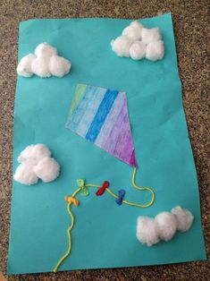 A kite project that I made with the autistic children at the preschool where I work. Follow me at autisticartistic.tumblr.com for directions, pictures of the kids' results, and more project ideas!