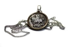 "Antique Fairytale Pendant ""In Shining Armor"" by ChatterBlossom on Etsy"