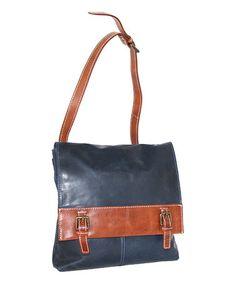 Denim Gena Leather Crossbody Bag #zulily #zulilyfinds