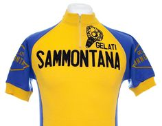 SAMMONTANA VINTAGE CYCLING JERSEY MAILLOT CYCLISTE MAGLIA EROICA TOP Sz L in…