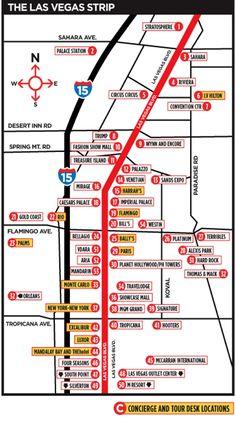 Strip vegas of las hotel in map