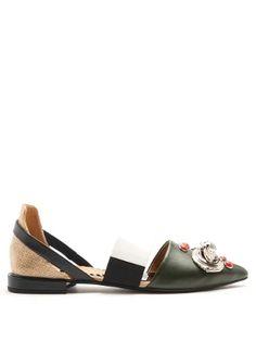 Embellished point-toe leather flats | Toga | MATCHESFASHION.COM US