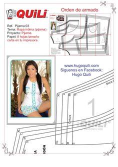 Pijama 02 Sewing Patterns Free, Free Sewing, Lingerie Patterns, Bra Pattern, Pattern Making, Underwear, Creations, Swimsuits, Album
