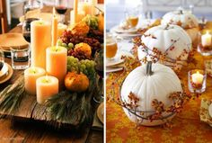 Thanksgiving - Candles are a great item to your add to your Thanksgiving centerpiece.