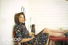 anukoo dress panama print, G. Spring Summer 2015, Summer Dresses, Panama, Inspiration, Cotton, Collection, Fashion, Blue, Kleding