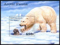 Polar Bear and Seal Stamp Mali
