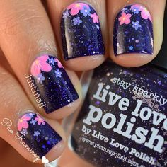 """Purple holo bits goodness ! Two coats . I've never applied a jelly/glitter polish That goes on so smoothly ! """"Stay sparkly"""" by #picturepolish you can purchase this at @live.love.polish link in their bio for more info 🙂"""
