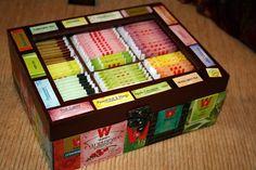 Israeli Tea Box filled with tea by Leelach on Etsy, $92.00
