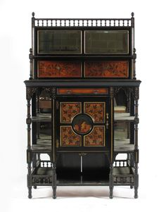 A pair of Aesthetic Movement ebonised wood sideboards - Lot 362 - Arts & Crafts