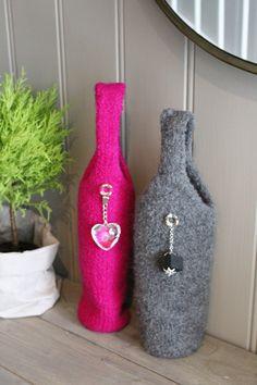 Cute bag for Your bottles! Pattern in Norwegian at www.mykenoster.no
