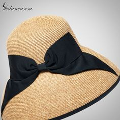 Summer Wide Brim Beach Women Sun Straw Hat Elegant Cap For Women Who like it ? #shop #beauty #Woman's fashion #Products #Hat