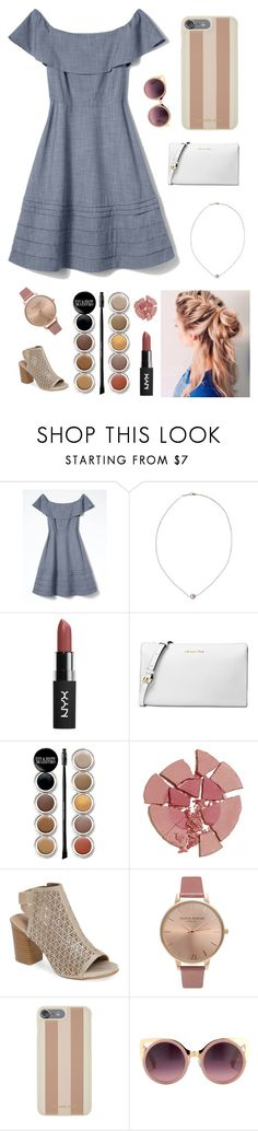 """Untitled #1468"" by sapnu2015 ❤ liked on Polyvore featuring Banana Republic, Karapetyan, Michael Kors, Giorgio Armani, Charlotte Tilbury, Kenneth Cole Reaction, Olivia Burton and Erdem"