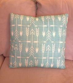 Arrow Throw Pillows, decorative pillows, home decor, turquoise pillows, unique pillows