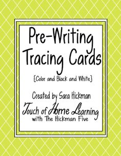 Pre-Writing Trace Card from Sara Hickman on TeachersNotebook.com -  (20 pages)  - 16 different lines for all your pre-writing needs. Great for preschool learners.