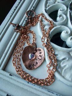 7th Anniversary Copper Necklace Personalized Jewelry by CENTiment, $32.00