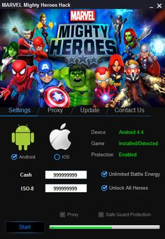MARVEL Mighty Heroes Hack (Android/iOS) Cheat 2016 tool download. With updated MARVEL Mighty Heroes Hack (Android/iOS) you will have just fun. Try MARVEL Mighty Heroes Hack (Android/iOS) tool. MARVEL Mighty Heroes Hack (Android/iOS) working with last update.