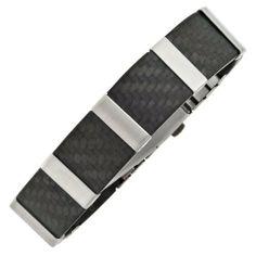 Damen-Armband Carbon mit Edelstahl mattiert kombiniert 21 cm Dreambase, http://www.amazon.de/dp/B00HYDZWQ8/ref=cm_sw_r_pi_dp_1mgjtb0T73A93