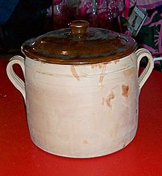 Antique Vallauris France French Terra Cotta Casserole