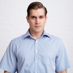 Scenic Check Shirt - Short Sleeve by Thomas Pink