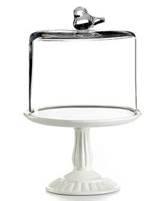 Martha Stewart Collection Serveware, Bird Dome with Cupcake Cake Stand at Macy's