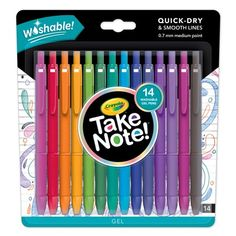 Crayola Take Note Washable Gel Pens Homemade Snow Globes, Coloring Books, Coloring Pages, Magic Snow, Isak & Even, Free Pen, Model Magic, School Stationery, Stationery Items