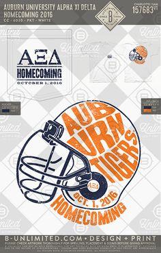 Auburn University- Alpha Xi Delta #BUonYOU #greek #greektshirts #greekshirts #sorority #AlphaXiDelta #Gameday