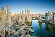 Mono Lake, California - the salt pillars