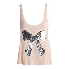 Sequin Bow Tank ($25) ❤ liked on Polyvore featuring tops, shirts, tank tops, tanks, blusas, view all tops, pink sequin tank, sequin tank top, shirt tops and bow shirt