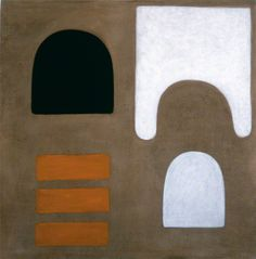 William Scott, Orange, 1965, Oil on canvas, 121.8 × 122 cm / 48 × 48 in, Whereabouts unknown