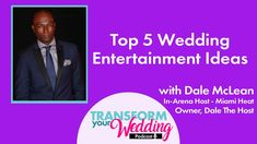 Top 5 Wedding Entertainment Ideas Entertainment Ideas, Wedding Entertainment, Wedding Vendors, Wedding Tips, Fun Learning, How To Memorize Things, Reception, Advice, Entertaining