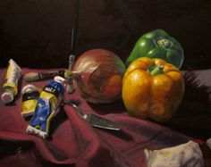 Onion and Peppers Still Life by iancjw on deviantART
