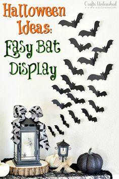 Halloween Ideas: Easy Bat Display for Spooky Entryway Decoration