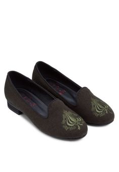 SPUR Spade Embroidered Loafers 刺繡平底船鞋