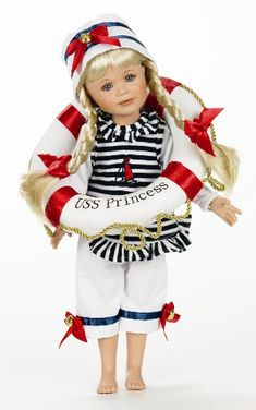 """Sail Away by Linda Rick, Key to My Heart Collection, 12"""" vinyl doll LE 500    $ 100.00 USD"""