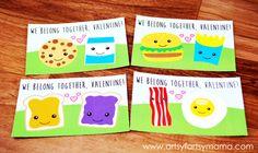 "Free Printable ""We Belong Together"" Valentines at artsyfartsymama.com #freeprintable #Valentines"