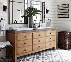 Great resource for anyone planning a bathroom remodel! Farmhouse bathroom design ideas for your remodel - vanities, lighting, mirrors and more! Bathroom Renos, Bathroom Interior, Small Bathroom, Master Bathroom, Bathroom Ideas, Bathroom Vanities, Bling Bathroom, Glass Bathroom, Bathroom Organization