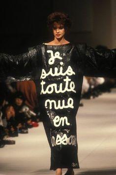 * Jean-Charles de Castelbajac, prêt-à-porter automne-hiver 1985 © Guy Marineau