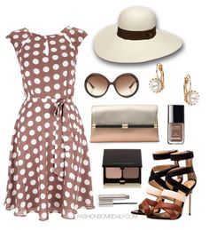 What to Wear to a Countryside Estate Diane von Furstenberg Envelope Mixed Metallic Clutch Jimmy Choo Mindy Sunglasses Jerome C. Rousseau Flo...