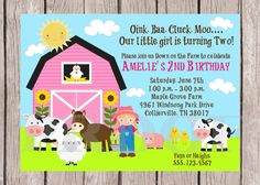 DIY PRINTABLE Down on the Farm  Invitation for by ciaobambino, $12.00