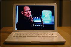 White MacBook.