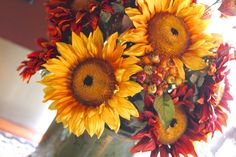 Fall Sunflower arrangement