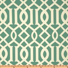This Richloom Solarium Outdoor Kirkwood Pool Fabric ($9 per yard) offers a bold trellis print in a cool aqua palette.
