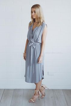 michel dress - grey