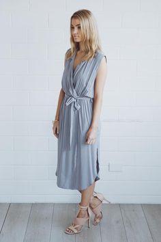 michel dress - grey