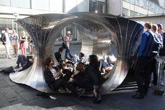 Benoit Croo, Chalmers Arkitektur, COWI, Marcus Abrahamsson, Röhsska Museum of Design, The Archipelago Pavilion, pavilion, Sweden, parametric design, parametrics, grasshopper