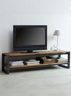 Metal Furniture, Industrial Furniture, Furniture Design, Industrial Tv Stand, Muebles Living, Living Room Tv, Home Furnishings, Family Room, Sweet Home