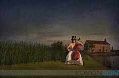 Bridal Photography. #steampunk #bride #Dallas #Texas #cello