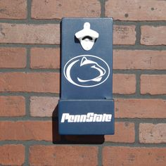 Penn State Nittany Lions PSU Wall Mounted Bottle Opener cap catcher and easy removal system by GrizzlyBearCreations on Etsy