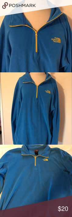 North Face fleece pullover Men's north face pullover, I have worn it as a women's oversized pullover! Super comfy warm fleece, great condition! North Face Jackets & Coats