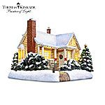 Thomas Kinkade Christmas Cottage Village Accessory. Hawthorne Village, a division of The Bradford Exchange, has always offered some of the finest in the world of collectibles, many from world renowned artist Thomas Kinkade. Now, to commemorate a landmark Hawthorne 20th anniversary, we are proud to offer the Thomas Kinkade Christmas Cottage, showcasing a breathtaking vision of Thomas Kinkade's childhood home. An essential addition to your Thomas Kinkade Christmas decor, this limited-edition…
